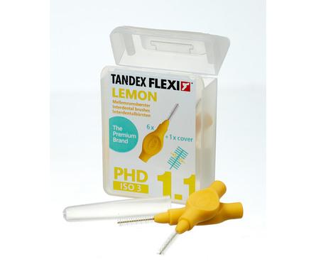 Tandex Flexi Mellemrumsbørste PHD 1.1/ISO 3 6 stk. Lemon