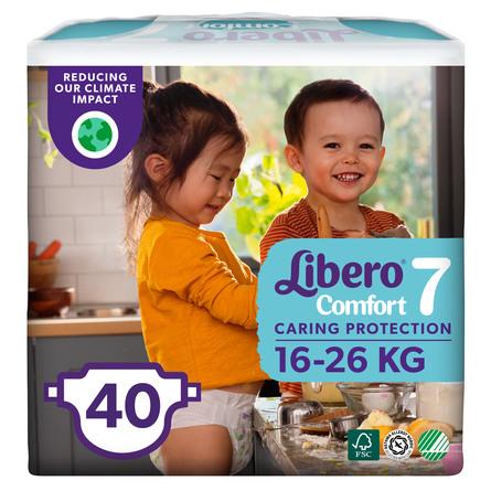 Libero Comfort str 7 Bleer 40 stk