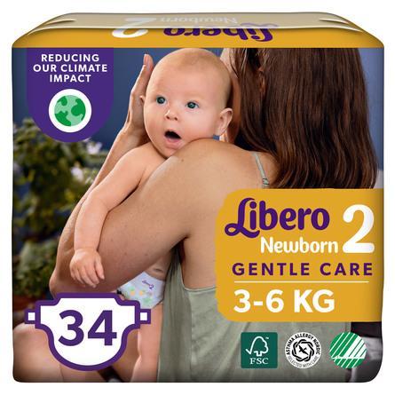 Libero Newborn Bleer 3-6kg str 2 – 34 stk