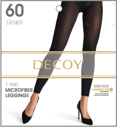Decoy Microfiber Leggings 3 Sort 60 Den. S/M