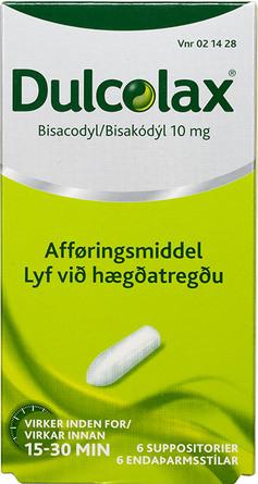 Dulcolax Suppositorier 10 mg. 6 stk.