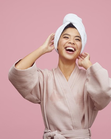 HairLust Bamboo Turban Hair Towel Hvid