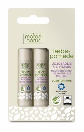 Matas Natur Jojobaolie og E-vitamin Læbepomade 2 stk.