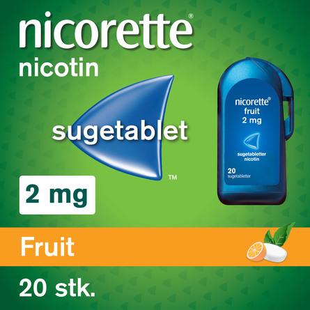 Nicorette® Nikotinsugetabletter 2 mg 20 stk