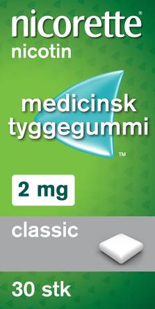 Nicorette® Classic tyggegummi 2 mg 30 stk