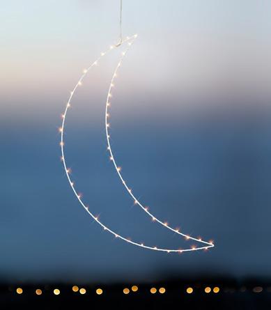 Sirius Liva Måne Stor 50 Led - Hvid