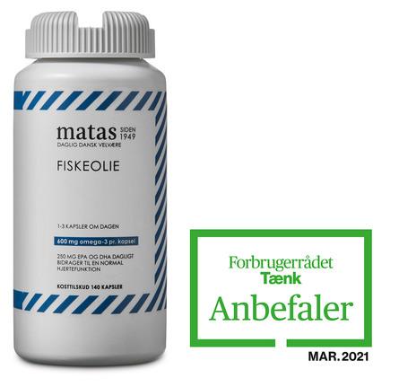 Matas Striber Fiskeolie 1000 mg 140 kaps