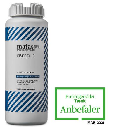 Matas Striber Fiskeolie 1000 mg 180 kaps