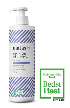 Matas Striber Glycerin Håndcreme Uden Parfume 500 ml