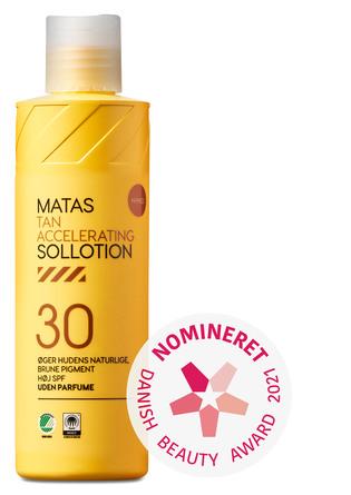 Matas Striber Tan Accelerating Sollotion SPF 30 Uden Parfume 200 ml