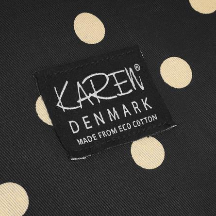 Karen Shopper i ØKO Bomuld Sort Med Creme Bomber