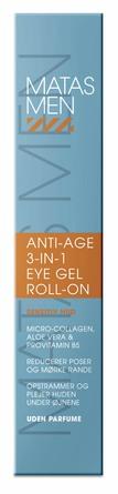 Matas Striber Men Anti Age 3-in-1 Eye Gel Roll-on til Sensitiv Hud Uden Parfume 15 ml