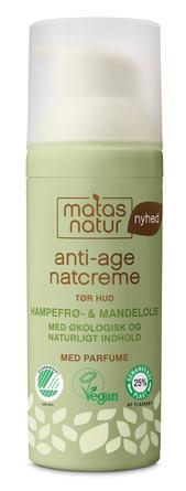 Matas Natur Hampefrø- & Mandelolie Anti-Age Natcreme 50 ml