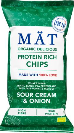 MÄT Organic Chips Sour Cream & Onion