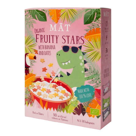 MÄT Organic Cereal Fruty Stars with Banaba and Dates