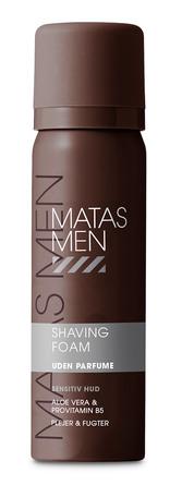 Matas Striber Men Shaving Foam til Sensitiv Hud Uden Parfume 60 ml, rejsestørrelse