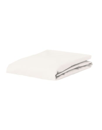 Essenza Satin Fitted Sheet Oyster 90 x 200