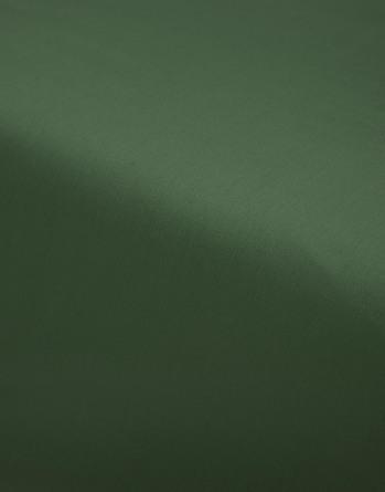 Essenza Satin Fitted Sheet Moss 90 x 200