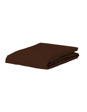 Essenza Satin Fitted Sheet Chocolate 180 x 200
