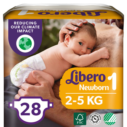 Libero Newborn Bleer 2-5kg str 1 – 24 stk