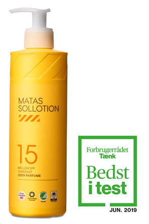 Matas Striber Sollotion SPF 15 Uden Parfume 400 ml