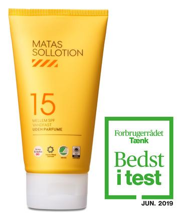Matas Striber Sollotion SPF 15 Uden Parfume 80 ml, rejsestørrelse