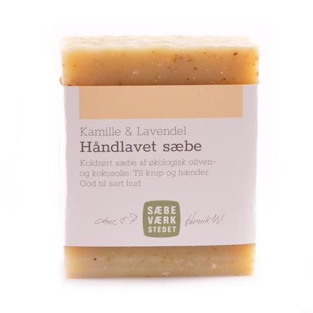 SÆBEVÆRKSTEDET Håndlavet sæbe Kamille & Lavendel 100 g