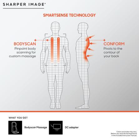 Sharper Image Massagesæde til Stol