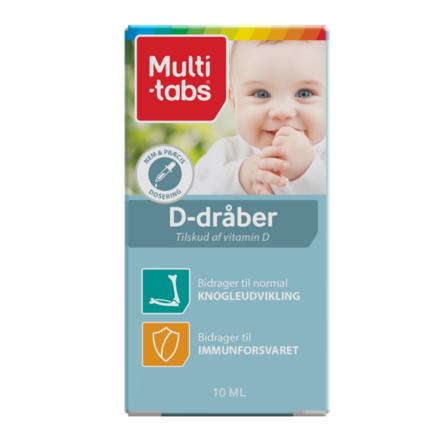 Multi-tabs D-dråber 10 ml