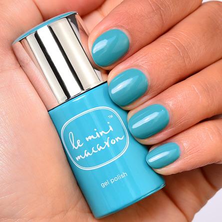 Le mini macaron Single Gel Polish Blue Lagoon