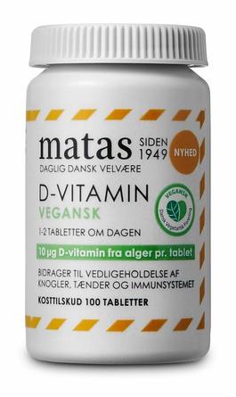 Matas Striber D-vitamin Vegansk 100 tabl.
