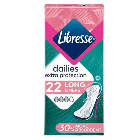 Libresse Trusseindlæg Extra Protection Long 22 stk