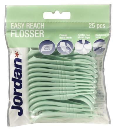 Jordan Tandtråd/Tandstik EasyReachFloss 25 stk