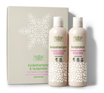 Matas Natur Bodyshampoo og Bodylotion Gaveæske